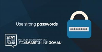 Stay smart online - Use strong passwords